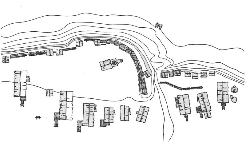 Схема застройки села Булкино.