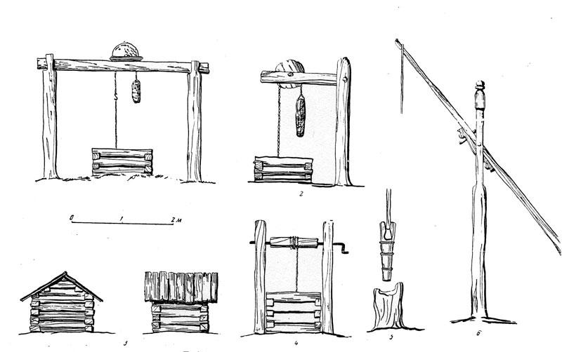 Подъемный механизм колодца своими руками 6