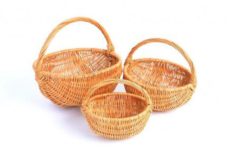 Купить маленькие корзинки из лозы под цветы заказать цветы на 8 марта спб