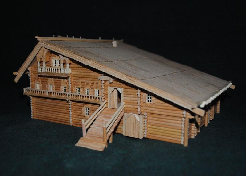 Макет деревянного дома своими руками 22